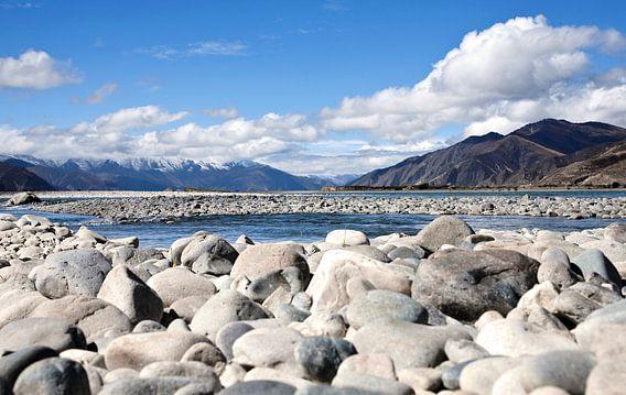 onderweg in Tibet van Jan van Reij