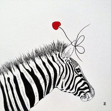 HeartFlow Zebra van Helma van der Zwan
