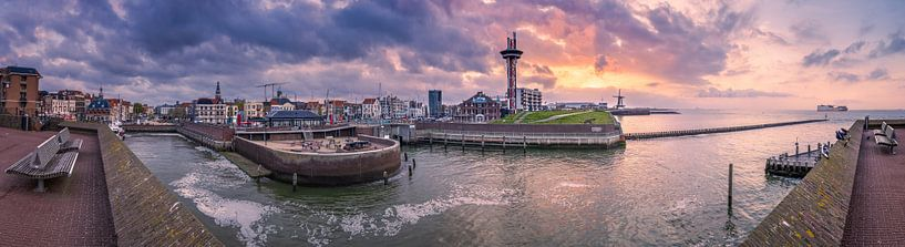 Panorama skyline Vlissingen van Sander Poppe