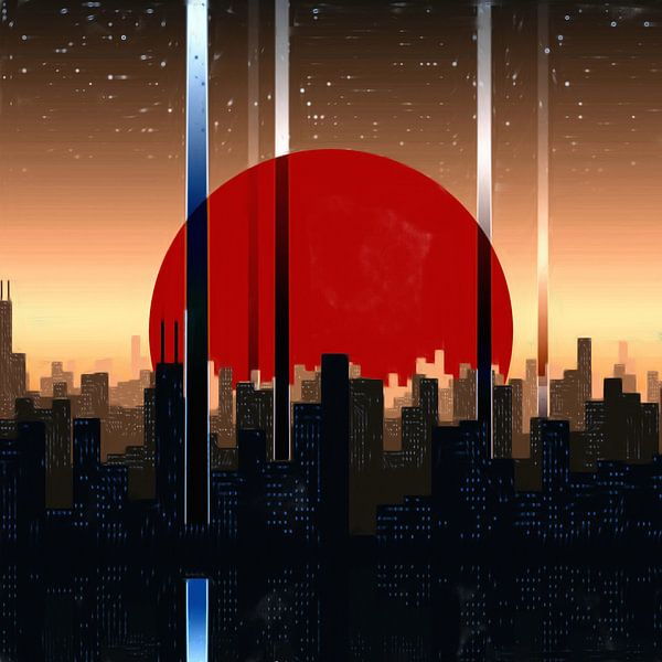 Abstract Cityscape van Maurice Dawson
