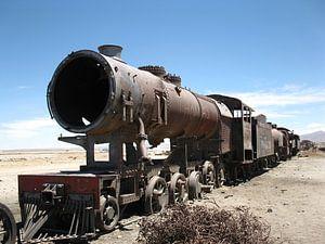 Treinkerkhof in de buurt van de zoutvlakte van Uyuni