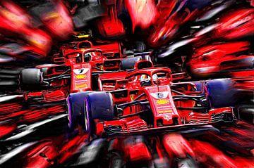 Teammates 2018 - Sebastian Vettel and Kimi Räikkönen von Jean-Louis Glineur alias DeVerviers