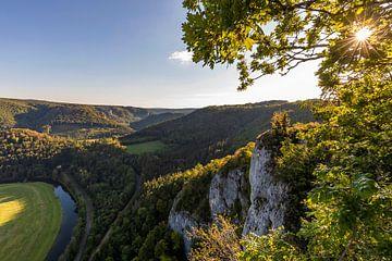 Het dal van de Boven-Donau in het natuurpark van de Boven-Donau van Werner Dieterich