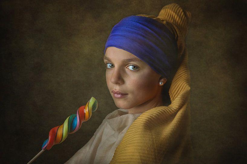Meisje met de Parel van Johannes Vermeer van ingrid schot