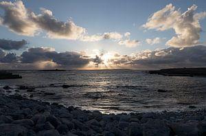Sonnenuntergang am Doolin-Pier von Harry Traa