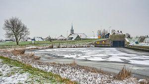 Dorpsgezicht Oudesluis in de winter van