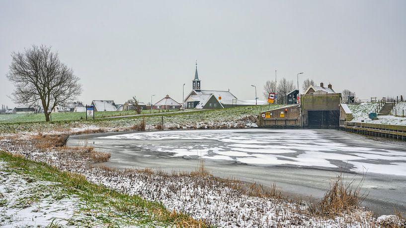 Dorpsgezicht Oudesluis in de winter van eric van der eijk