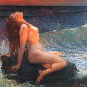 Frau im Sonnenaufgang, Leopold Schmutzler