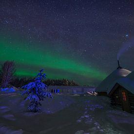 Noorderlicht in Lapland, Finland von Robert van Hall