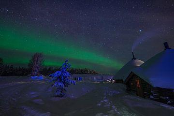 Noorderlicht in Lapland, Finland van Robert van Hall