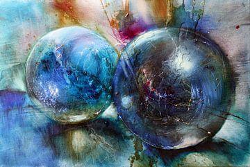 Blauwe knikkers van Annette Schmucker