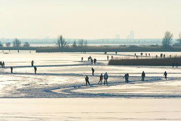 Winter Schaatsen op het meer. von Brian Morgan