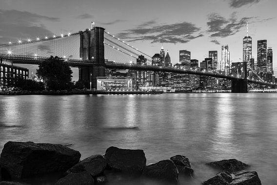 Skyline New York zwart-wit