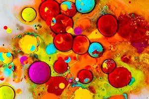 Regenboog bubbels van