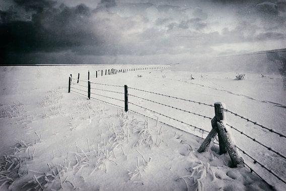 Kunst Winter Waddenzee van Peter Bolman