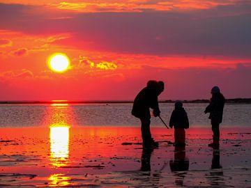 Met het gezin op vakantie aan de Noordzee in Duitsland van Animaflora PicsStock