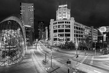 Ville de lumière, noir et blanc sur Mitchell van Eijk