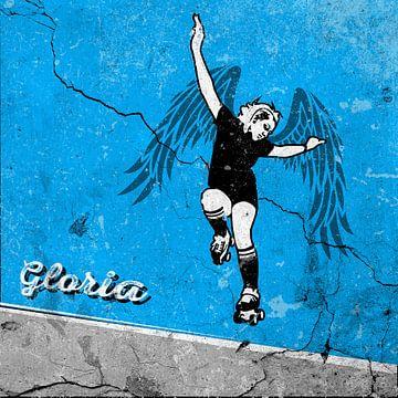 Rollerskating engel van Jaap Tinholt