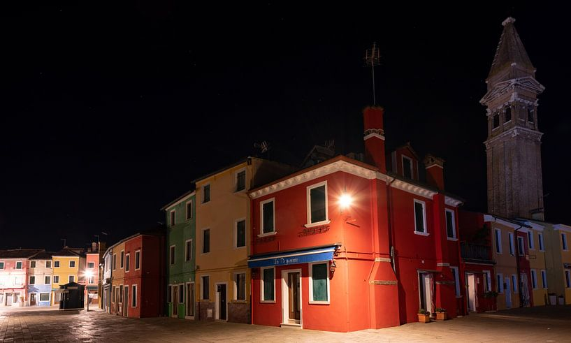 Nachts auf Burano (Venedig) von Andreas Müller