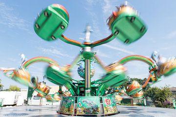 Octopus carrousel op de kermis van Wim Stolwerk
