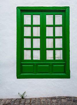 Grünes Fenster, Lanzarote von Danny Leij