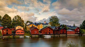 Zonsondergang Porvoo, Finland van Adelheid Smitt