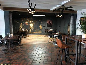 Kundenfoto: Selbstporträt mit zwei Kreisen, Rembrandt van Rijn