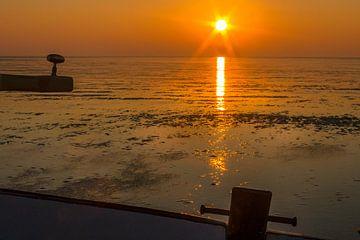 Droogvallen op de waddenzee van Ron van Ewijk