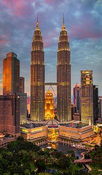 Petronas Twin Towers, Kuala Lumpur, Maleisië van Adelheid Smitt