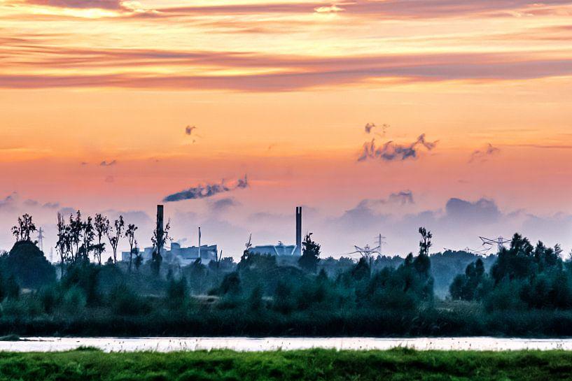 Zonsondergang in de Biesbosch van Eddy Westdijk
