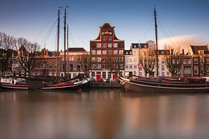 historische haven van dordrecht van