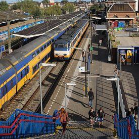 Oude station Delft, treinen van Anita Bastienne van den Berg