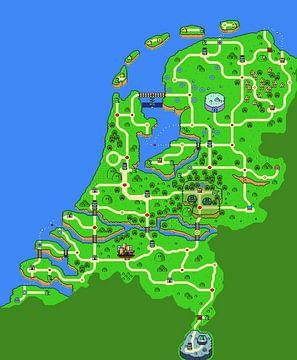 Karte der Niederlande von Armin Palavra