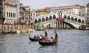 Venedig Canale Grande Rialto Brücke gemalt