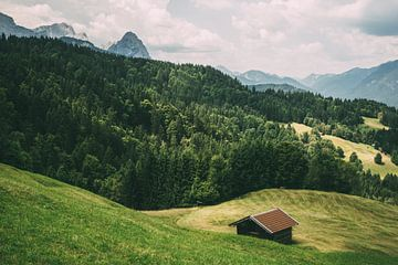 Deutsche Alpenlandschaft von Patrycja Polechonska