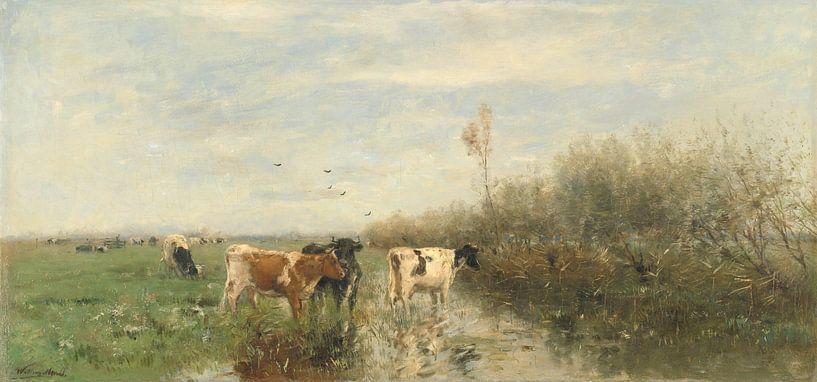 Koeien in een drassig weiland, Willem Maris von Meesterlijcke Meesters