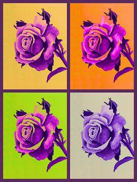 Rozen a la Warhol van Jessica van Schijndel