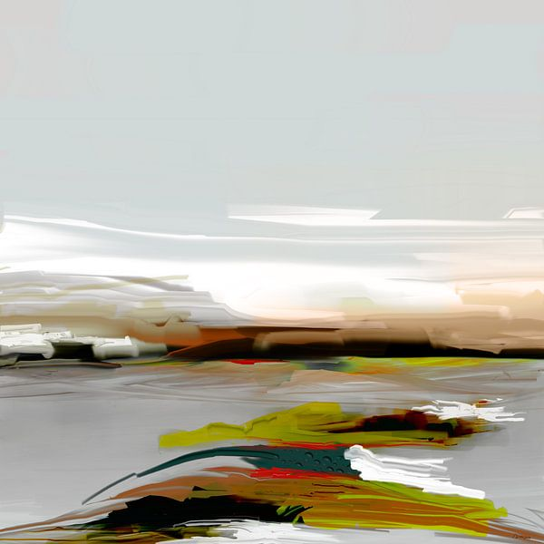 Abstractie,  IJsland. van SydWyn Art