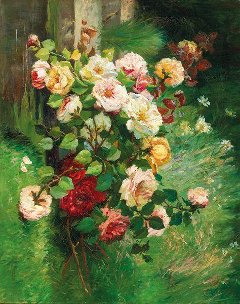Sommerblumenstrauß, Eugène Henri Cauchois von Meesterlijcke Meesters