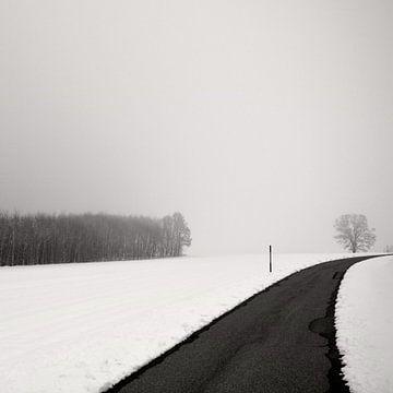 Kurve In Snow von Lena Weisbek