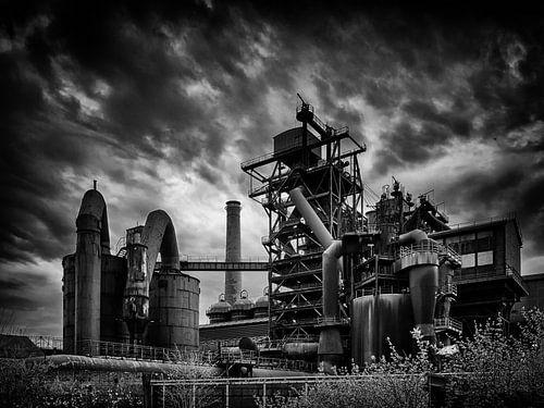 Steelworks (black and white) van