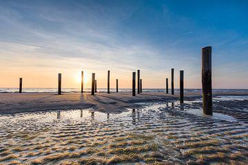 Palendorp tijdens zonsondergang van Max ter Burg Fotografie