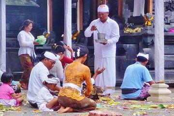 Rituele zegening, Bali. van