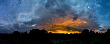 Xl-Panorama Sonnenuntergang von Andreas Bechinie von Lazan