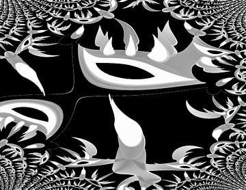 Tribal trio Multiplie Black von Nicky`s Prints