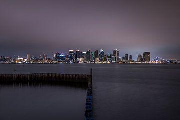 San Diego Skyline van Stefan Bauwens Photography