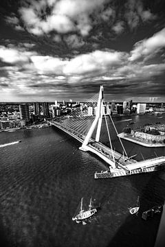 Le pont Erasmus à Rotterdam sur Govert Govers