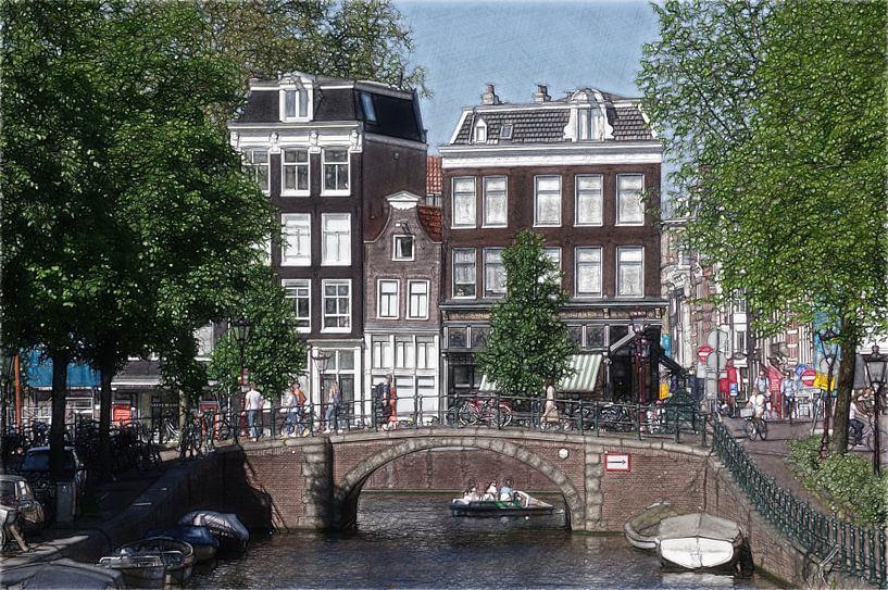 Amsterdam sketch-oto van Mike Bing