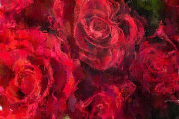 Ein Bett Roter Rosen von Theodor Decker