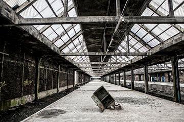 Montzen railway station van Michelle Peeters